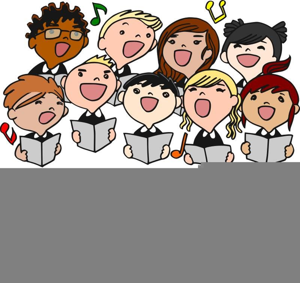 Singers clipart picture royalty free library Choral Singers Clipart   Free Images at Clker.com - vector ... picture royalty free library