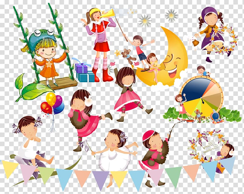 Singing and dancing clipart royalty free library Singing and dancing children transparent background PNG ... royalty free library