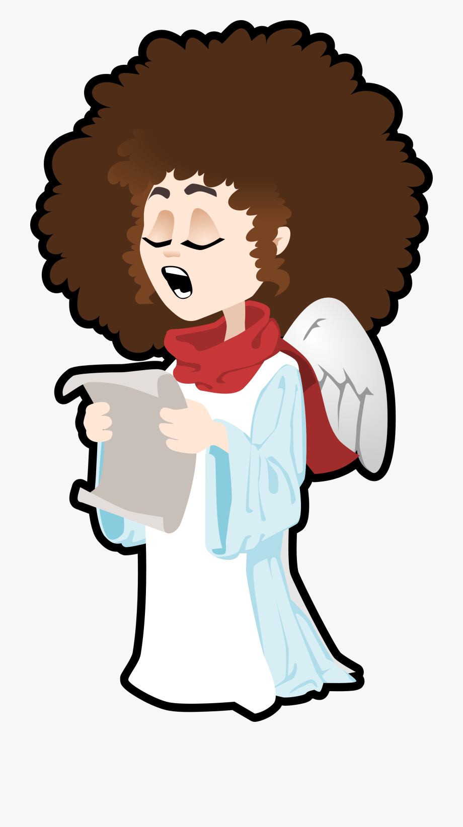 Singing angel clipart png royalty free download African American Religious Christmas Clipart - Singing Angel ... png royalty free download