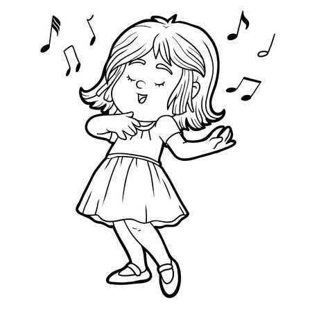 Singing black and white clipart jpg freeuse download Clipart singing black and white 2 » Clipart Portal jpg freeuse download