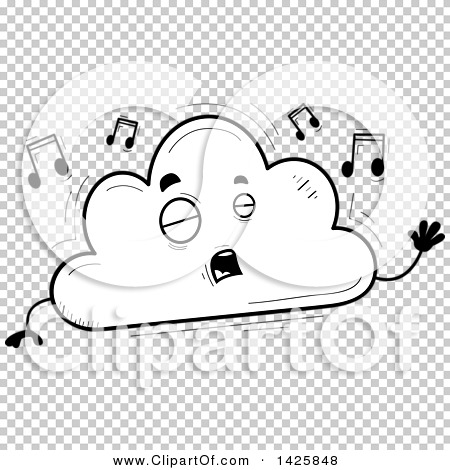 Singing book character clipart banner royalty free Clipart of a Cartoon Black and White Doodled Singing Cloud ... banner royalty free