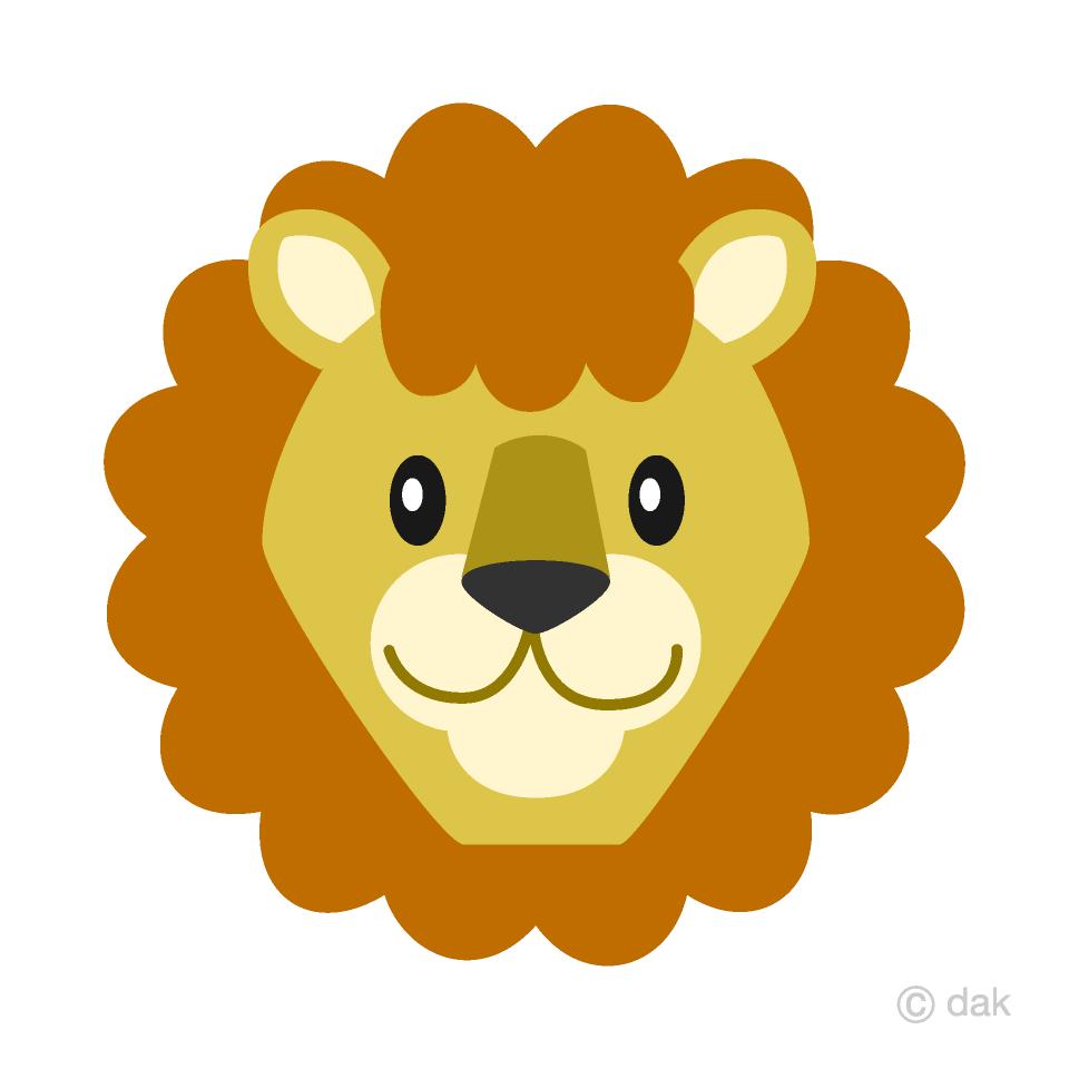 Singing clipart lion picture stock Simple Lion Face Clipart Free Picture|Illustoon picture stock