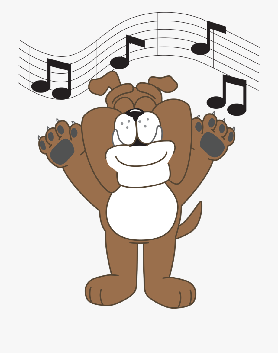 Singing dog clipart clip free library Bulldog Singing - Cartoon Dog With Paws Up, Cliparts ... clip free library