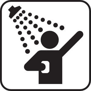 Singing in the shower clipart png black and white library Safety Shower Cliparts | Free download best Safety Shower ... png black and white library