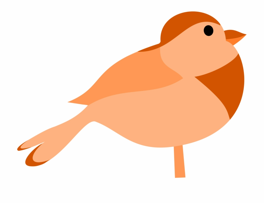 Singing lovebird clipart vector free Clip Art Of A Happy Brown Bird Singing Or Whistling - Bird ... vector free