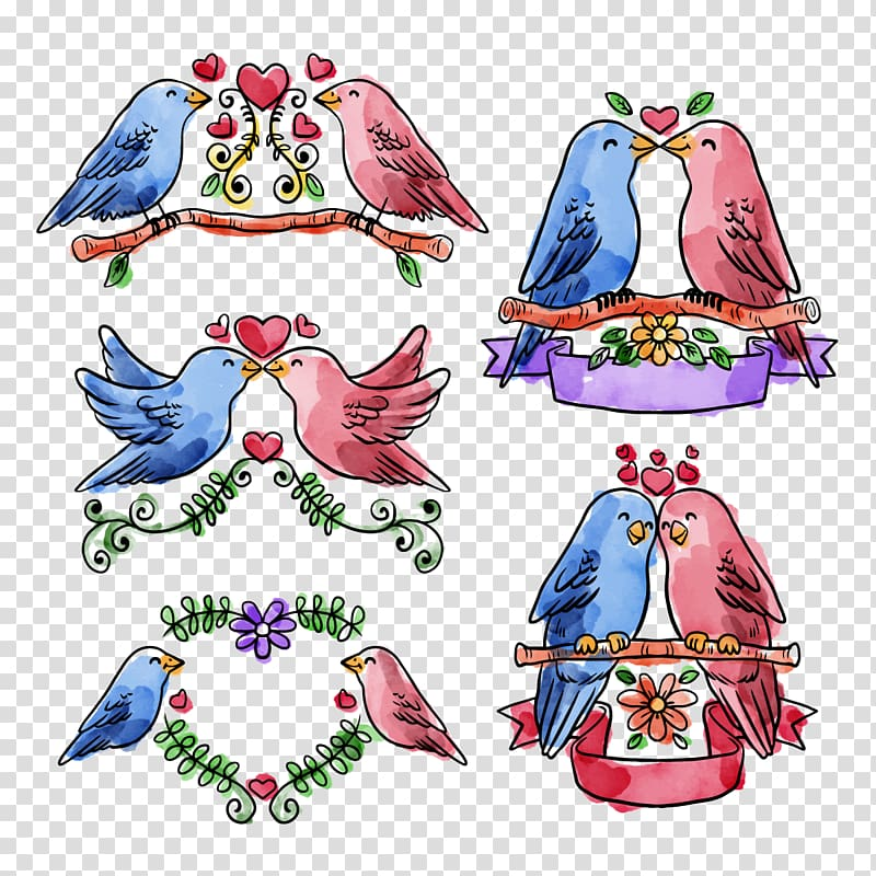 Singing lovebird clipart freeuse library Rosy-faced lovebird , Collection Love birds transparent ... freeuse library