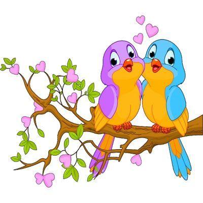 Singing lovebird clipart clip art royalty free LOVEBIRDS 03 12 15 02 | CLIPART - BIRDS AND BIRDHOUSES ... clip art royalty free
