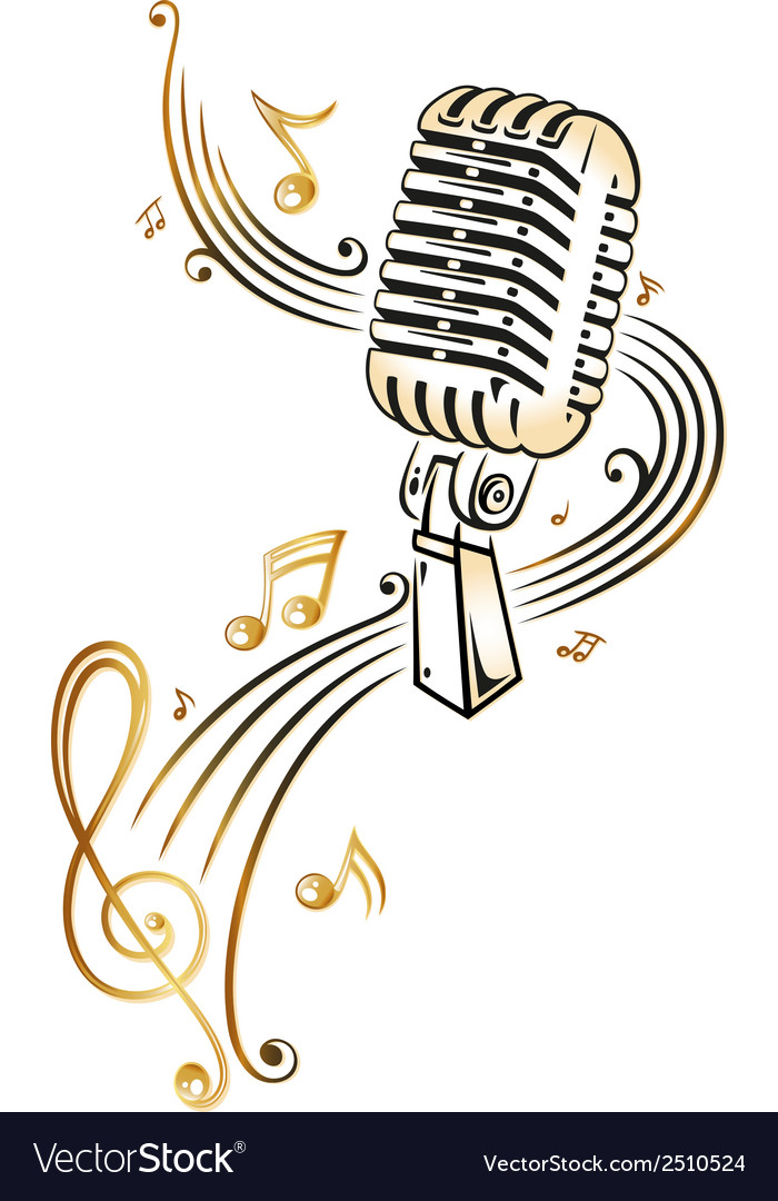 Singing music notes and microphone colorful clipart png freeuse download Microphone music png freeuse download