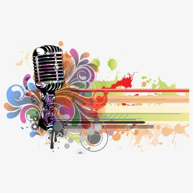 Singing music notes and microphone colorful clipart vector royalty free library Microphone Karaoke, Microphone Clipart, Microphone, Musical ... vector royalty free library