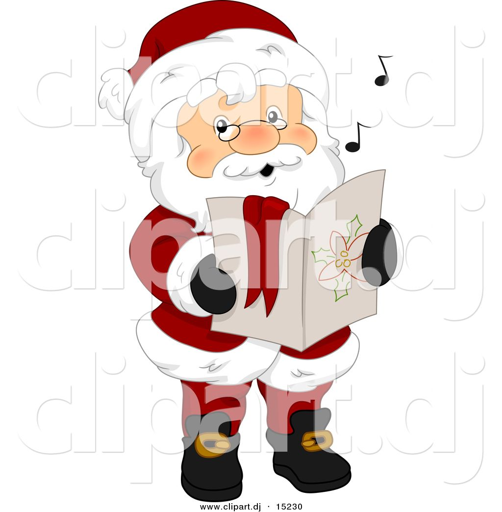 Singing santa clipart free picture freeuse Christmas Carolers Clip Art | Christmas Carol Clip Art ... picture freeuse