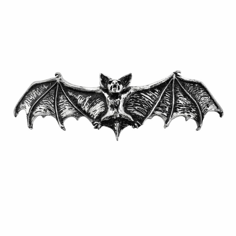 Single bat wing clipart svg freeuse library Alchemy Gothic Darkling Bat Wings Gothic Pewter Hair Clip Slide Accessory |  eBay svg freeuse library
