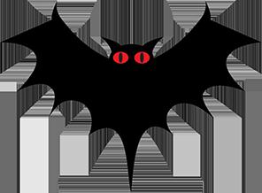 Single bat wing clipart banner freeuse download Halloween Graphics Free - Bats - Pumpkins - Clipart banner freeuse download