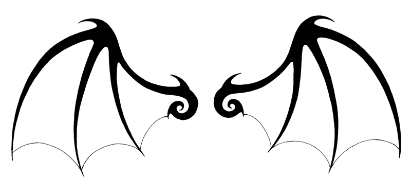 Single bat wing clipart jpg black and white download Bat Wings Clipart   Clipart Panda - Free Clipart Images jpg black and white download