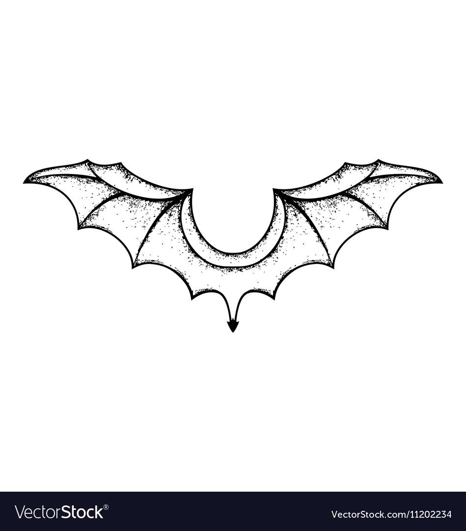 Single bat wing clipart transparent Grunge bat wings transparent