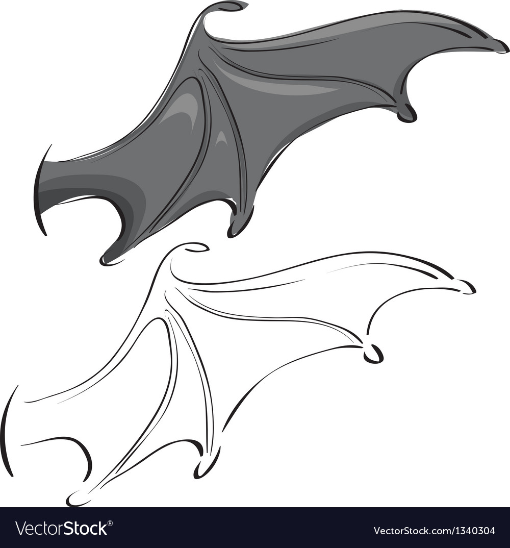 Single bat wing clipart image free library Bat wings image free library