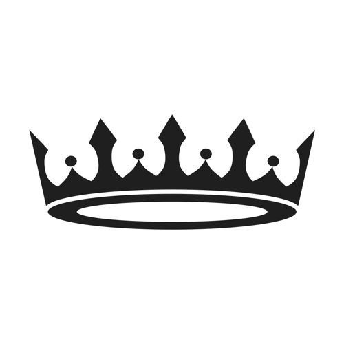 Single crown clipart free png library Stencil Premium - Prince Princess Crown - ClipArt Best ... png library