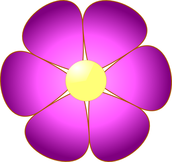 Single flower clipart banner free download Pink Flower Clip Art at Clker.com - vector clip art online, royalty ... banner free download