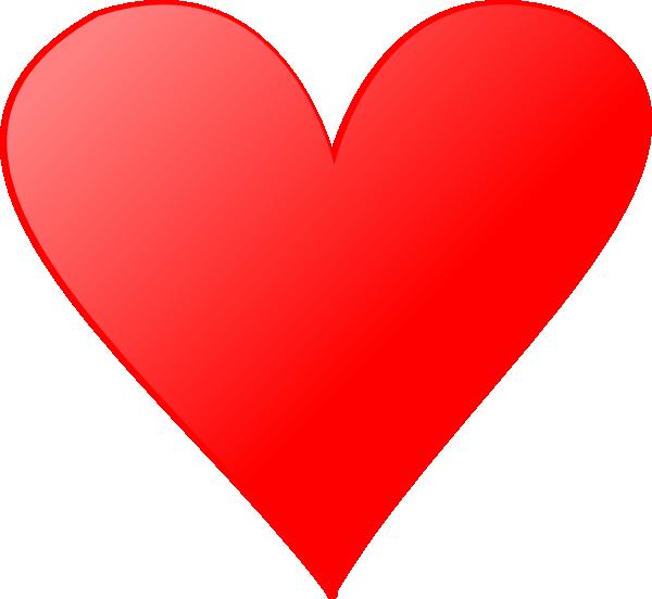 Single heart clipart clipart royalty free library Single Heart Clip Art at Clker.com - vector clip art online, royalty ... clipart royalty free library