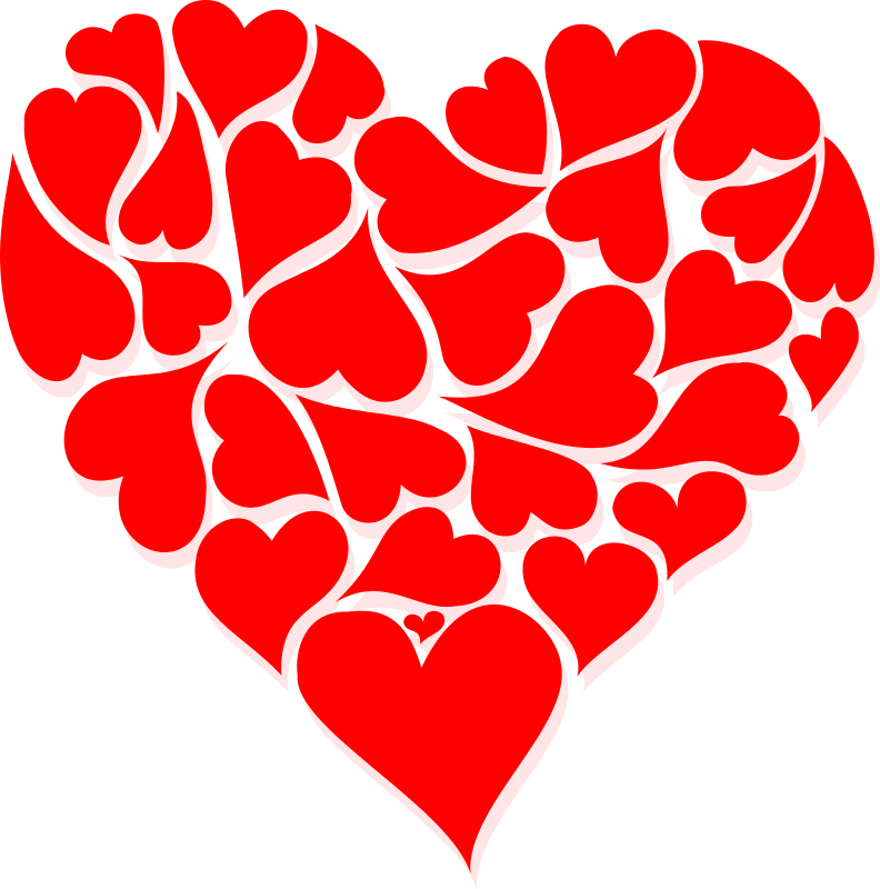 Single heart clipart jpg black and white library Hearts For Valentines - vidanto.com jpg black and white library