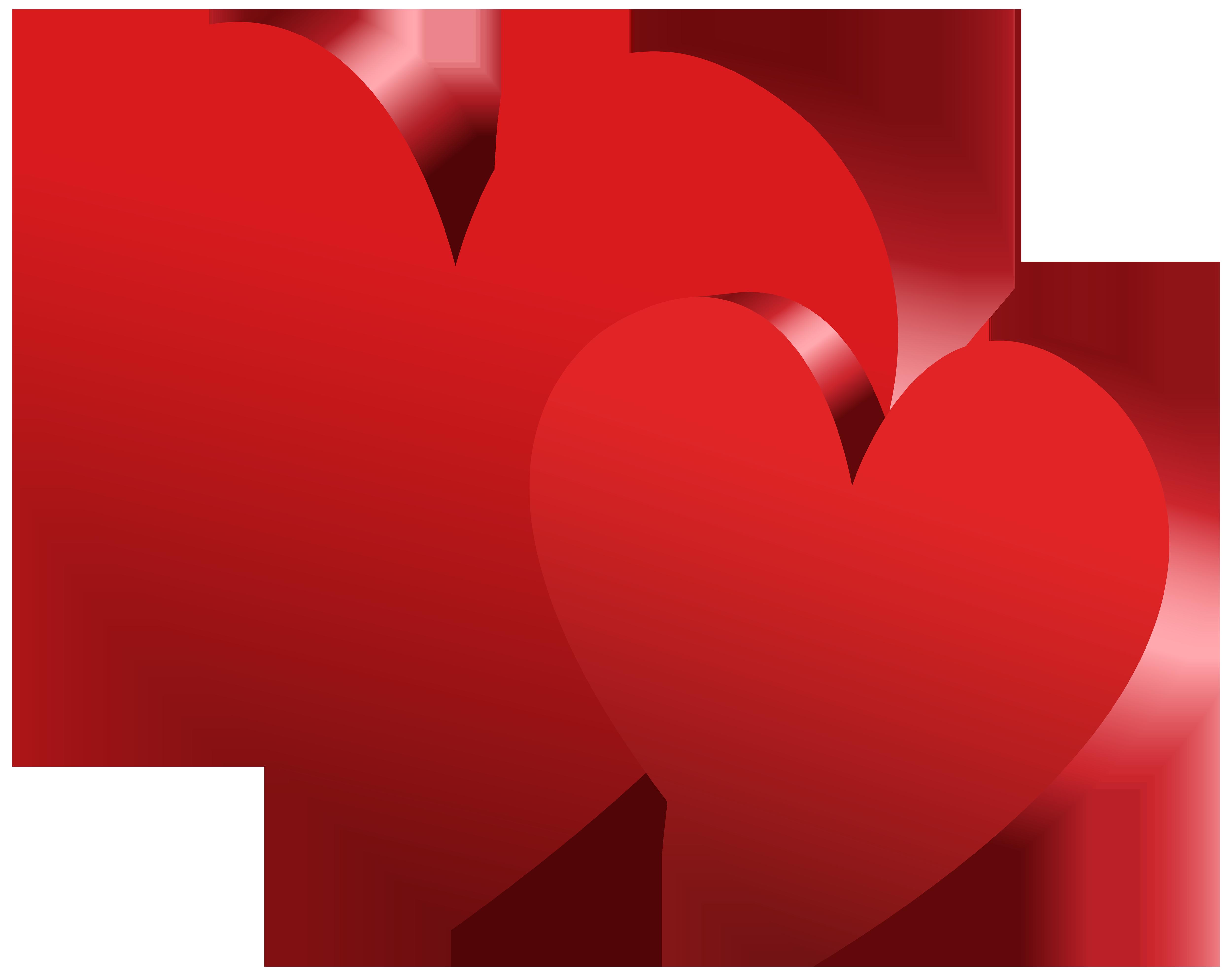 Single heart clipart svg transparent download Red Hearts PNG Clipart - Best WEB Clipart svg transparent download