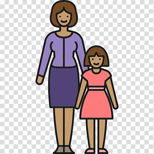 Single parent family clipart png library Mother Family Single parent , family transparent background ... png library