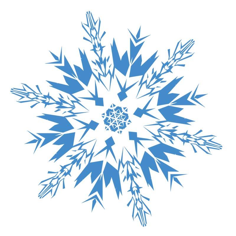 Single snowflake border clipart black and white clipart library Snowflake Border Clipart | Free download best Snowflake ... clipart library