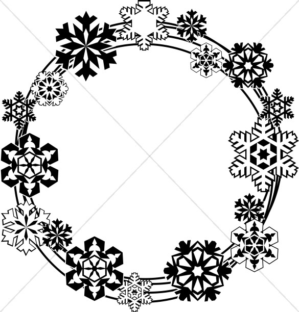 Single snowflake border clipart black and white png free library Snowflake Images, Snowflake Clip Art, Winter Images - Sharefaith png free library