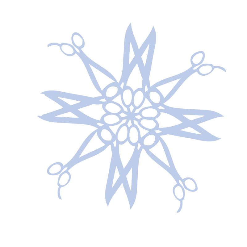 Single snowflake clipart png freeuse stock Clipart - Hair Cutting Scissors Blue Snow Flake png freeuse stock