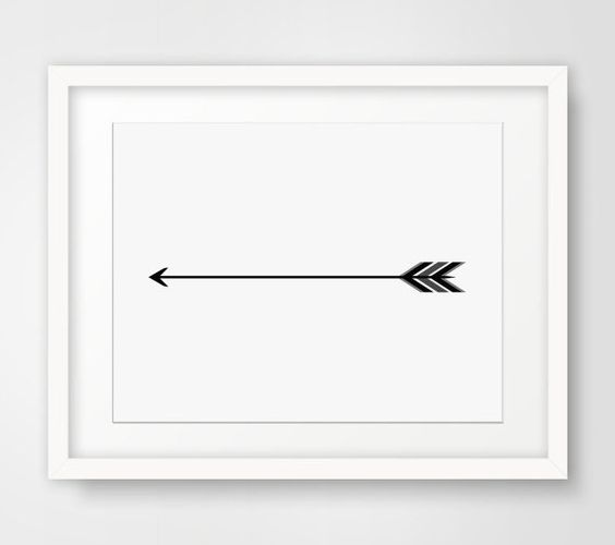 Single tribal arrow clipart picture royalty free download One Feather Arrow Art, Black and White, Single Black Arrow Print ... picture royalty free download