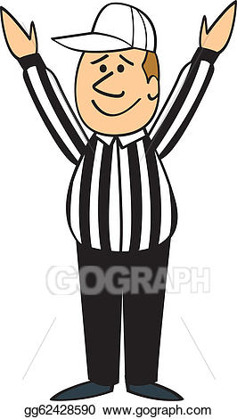 Singnaling clipart image download Vector Art - Cartoon football referee touchdown. EPS clipart ... image download