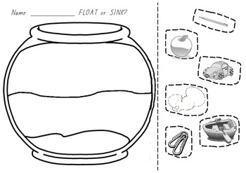 Sink and float clipart black and white picture royalty free library Floating And Sinking Prediction Sheet Worksheets & Teaching ... picture royalty free library