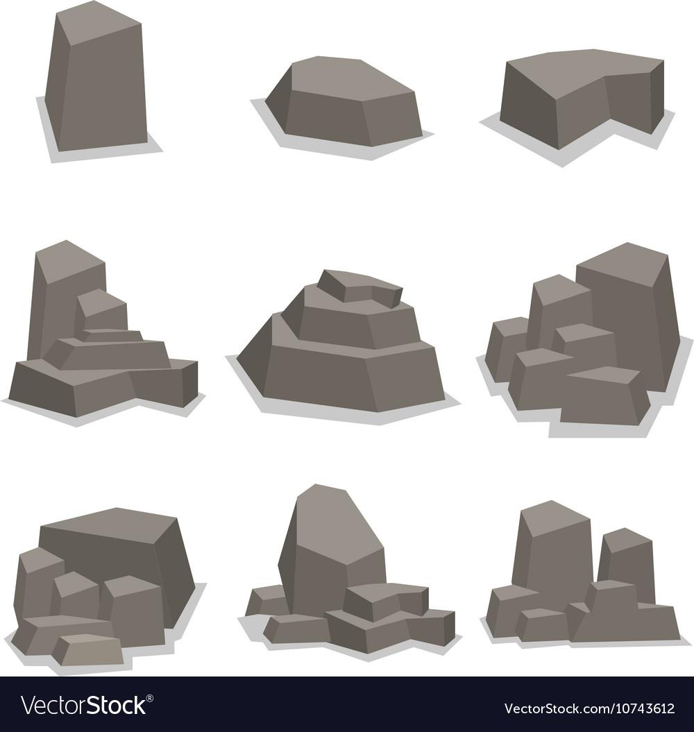 Sinkhole rubble clipart svg transparent Stones and rock set collection svg transparent
