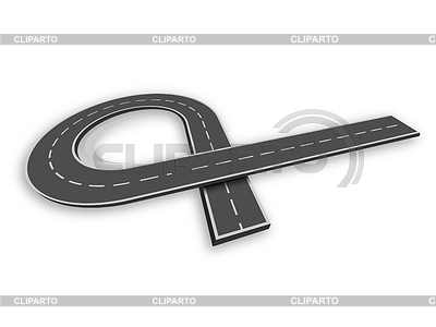 Sinuous clipart picture free Y junction road sign | Stock Photos and Vektor EPS Clipart ... picture free
