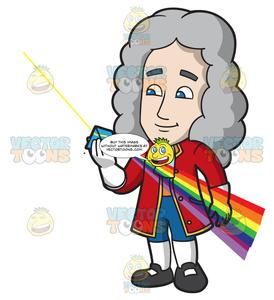 Sir isaac newton clipart jpg transparent download Isaac Newton Looking Through A Color Prism jpg transparent download