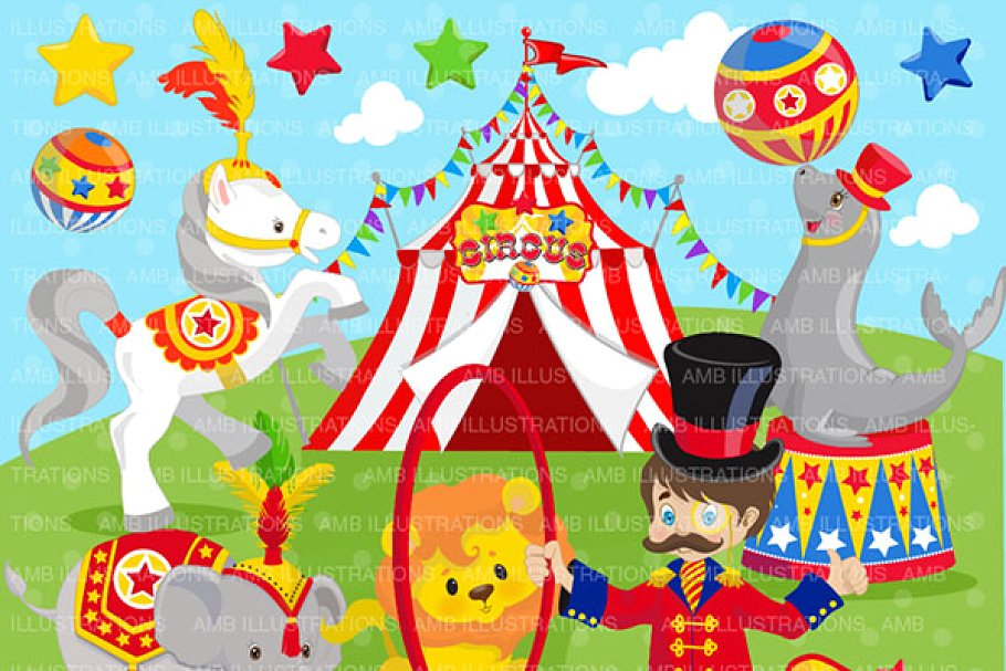 Sircus clipart banner freeuse Clipart, Circus Clip art AMB-1158 banner freeuse