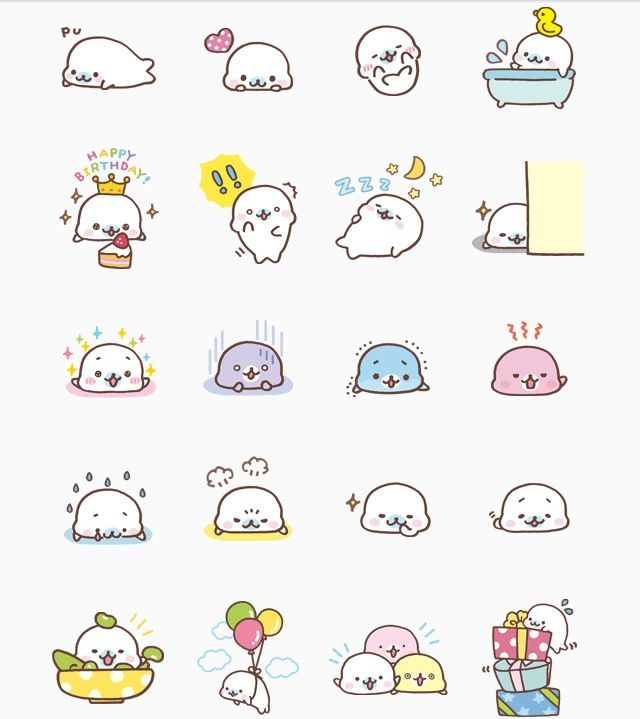 Sirotan clipart clip freeuse Mamegoma Line Sticker (1st version) | Sirotan VS Mamegoma ... clip freeuse
