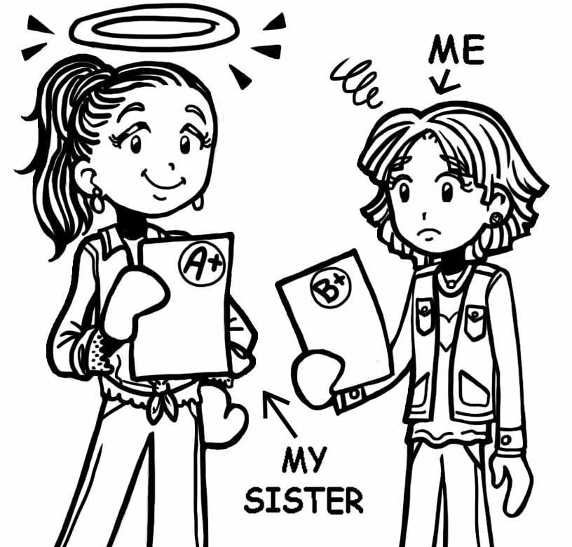 Sister and younger sister clipart black people graphic library library WHAT TO DO WHEN PEOPLE COMPARE YOU TO YOUR SISTER – Dork Diaries graphic library library
