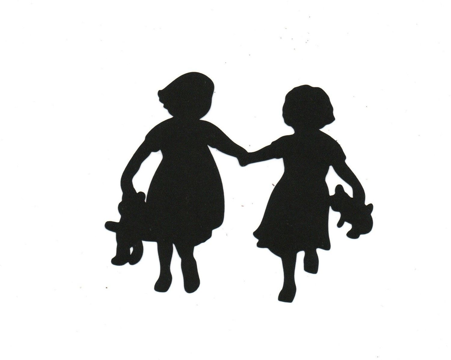 Sister and younger sister clipart black people graphic transparent library Sisters Child Silhouette | silouettes | Silhouette ... graphic transparent library
