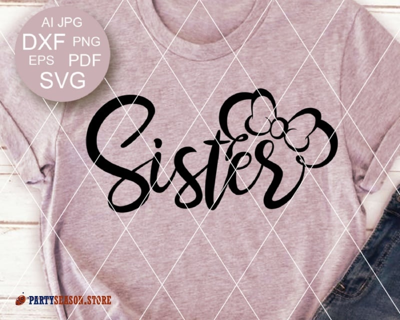 Sister on cruise clipart image freeuse download Sister svg design for shirts Minnie Mouse bow clipart Disney World ears  Cruise svg Vacay mode Birthday decor Cricut Silhouette cameo Dxf image freeuse download