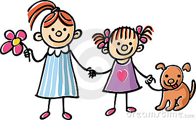 Sisters holding hands clipart jpg black and white Sisters Holding Hands Stock | Clipart Panda - Free Clipart ... jpg black and white