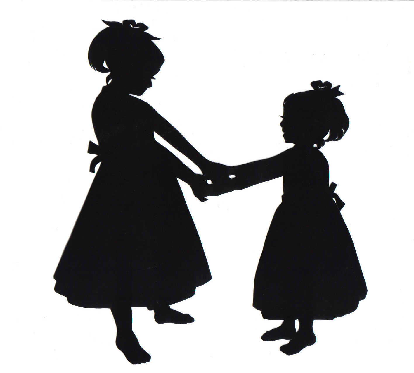 Sisters holding hands clipart picture transparent library Free Two Sisters Cliparts, Download Free Clip Art, Free Clip ... picture transparent library