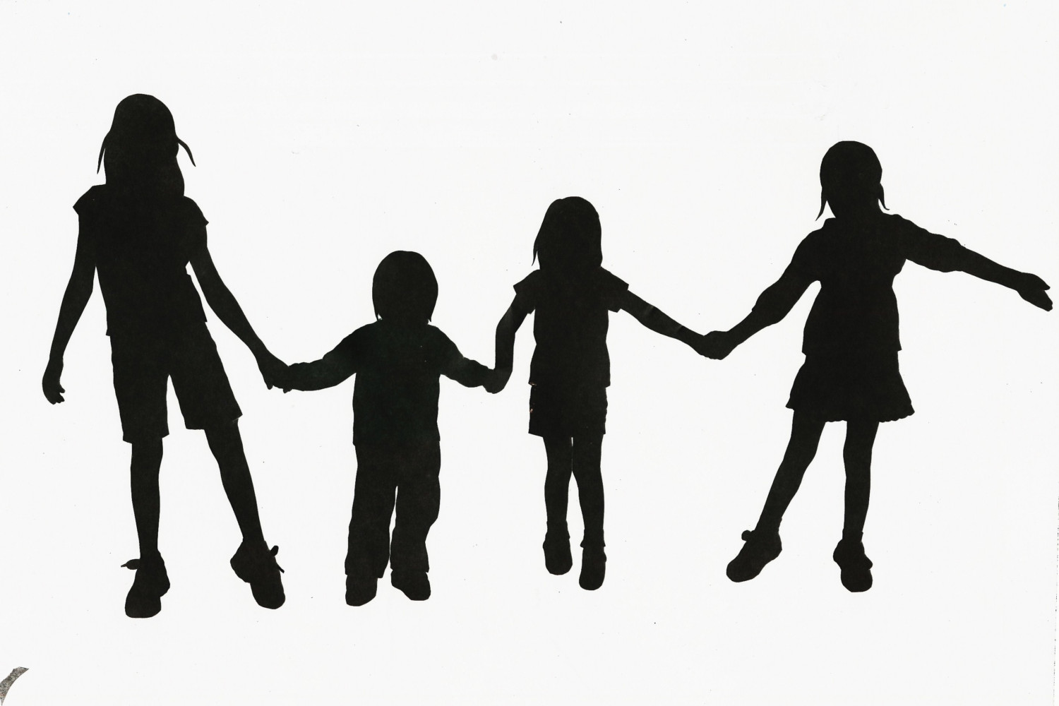 Sisters holding hands clipart image royalty free download Images For > Two Sisters Holding Hands Silhouette - Cliparts.co image royalty free download