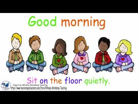 Sit on the floor clipart image free stock Good morning sit on the floor quietly image free stock