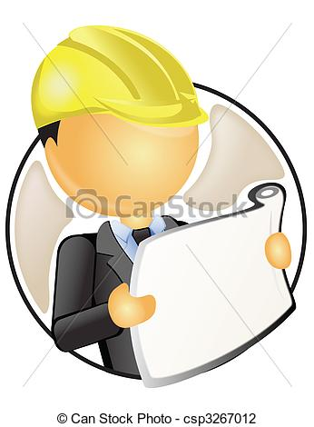 Site engineer clipart vector royalty free stock Clip Art of engineer analyzing construction plan of site ... vector royalty free stock