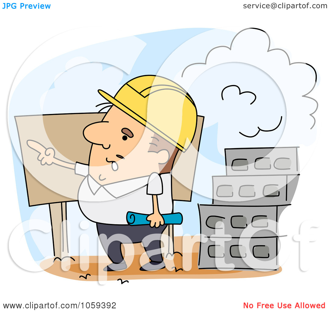 Site engineer clipart banner free stock Royalty-Free Vector Clip Art Illustration of an Engineer Pointing ... banner free stock
