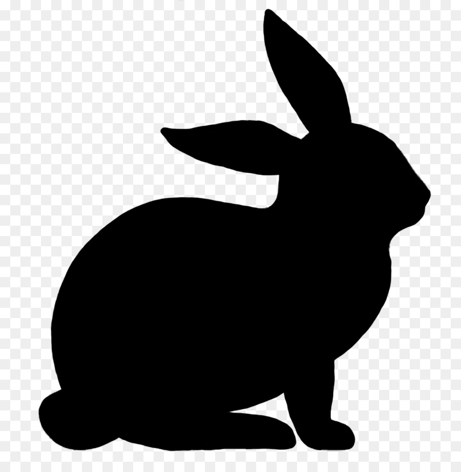 Sitting bunny clipart banner stock Free Sitting Bunny Silhouette, Download Free Clip Art, Free ... banner stock