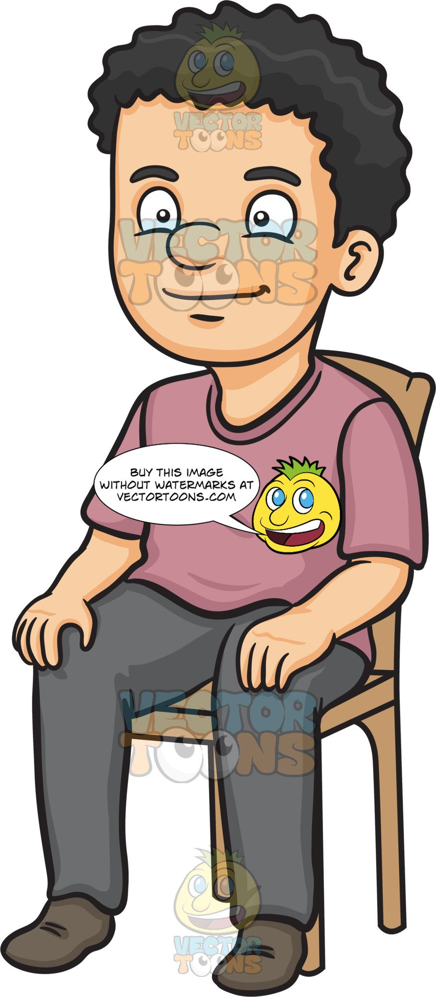 Sitting in chair clipart picture free A Man Sitting On A Chair picture free