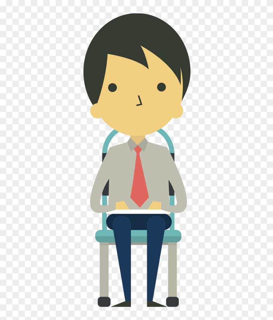 Sitting in chair clipart jpg free stock Cartoon Businessman Sitting On Chair - Cartoon Sitting On ... jpg free stock