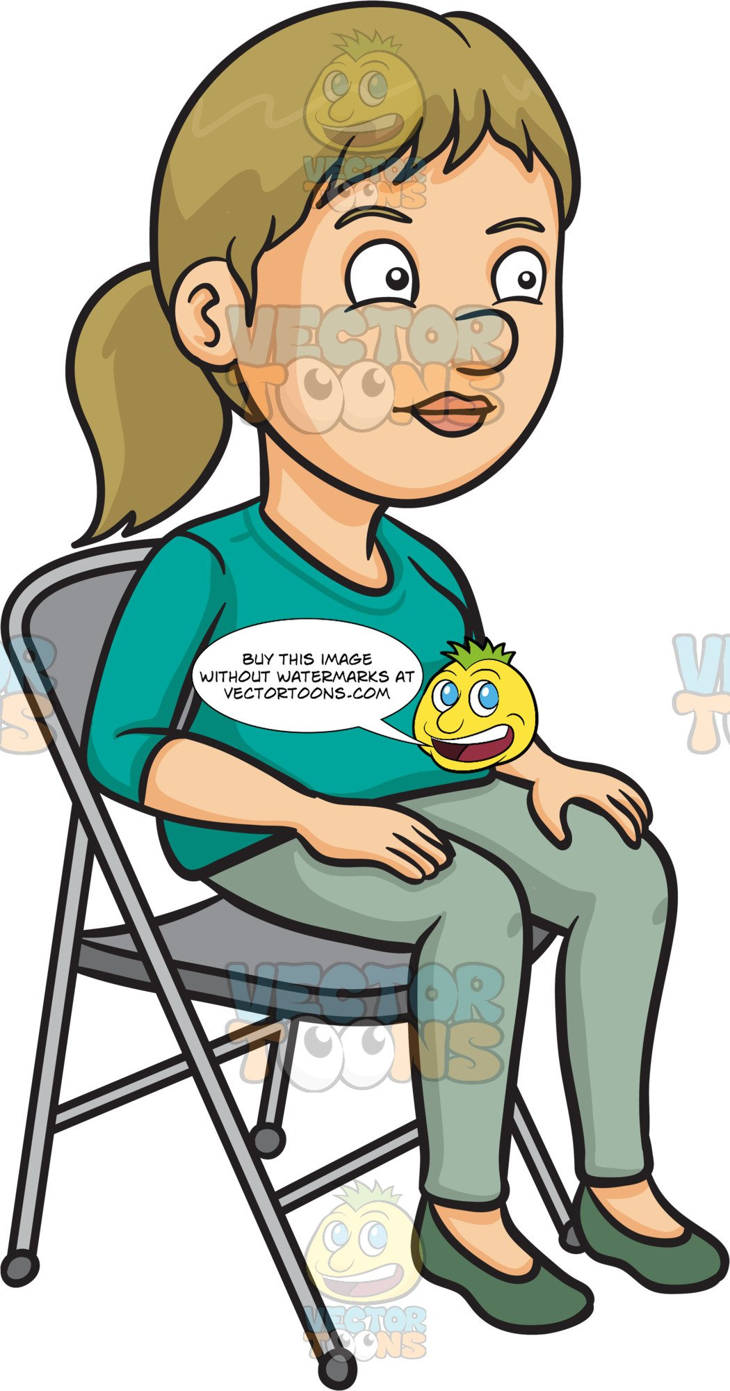 Sitting in chair clipart banner freeuse download A Woman Sitting On A Folding Chair banner freeuse download