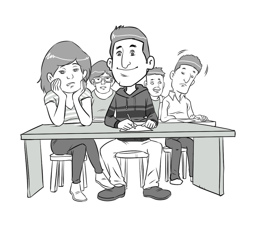 Sitting in class clipart black and white clip free Entry #3 by meztro for Simple classroom black white clipart ... clip free